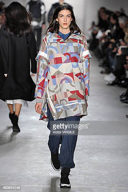 A model walks the runway at the Public School fashion show during MercedesBenz Fashion Week Fall 2015 on February 15 2015 in New York City
