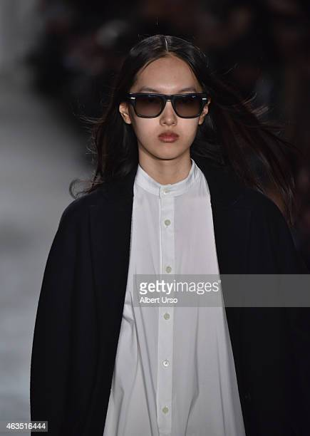 A model walks the runway at the Public School runway show during MADE Fashion Week Fall 2015 at Studio 330 on February 15 2015 in New York City