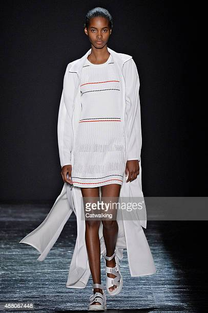 A model walks the runway at the Public School Spring Summer 2016 fashion show during New York Fashion Week on September 13 2015 in New York United...