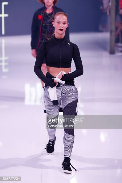 A model walks the runway at the Puma fashion show during the Bread Butter by Zalando at arena Berlin on September 2 2016 in Berlin Germany