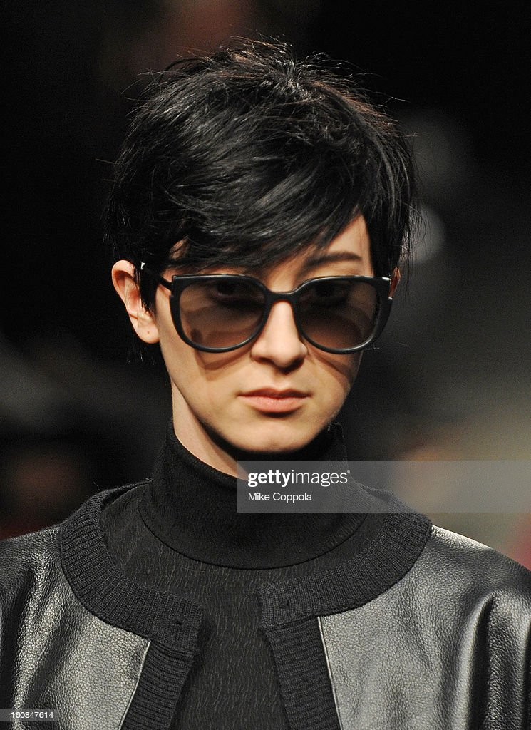 A model walks the runway at the Rachel Comey fall 2013 fashion show during Mercedes-Benz Fashion Week at Pier 59 on February 6, 2013 in New York City.