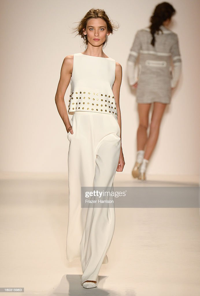 A model walks the runway at the Rachel Zoe fashion show during Mercedes-Benz Fashion Week Spring 2014 at The Studio at Lincoln Center on September 11, 2013 in New York City.