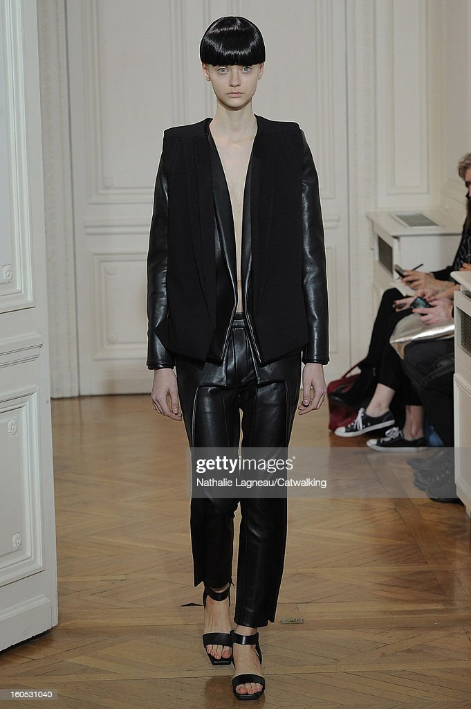 A model walks the runway at the Rad Hourani Spring Summer 2013 fashion show during Paris Haute Couture Fashion Week on January 24, 2013 in Paris, France.