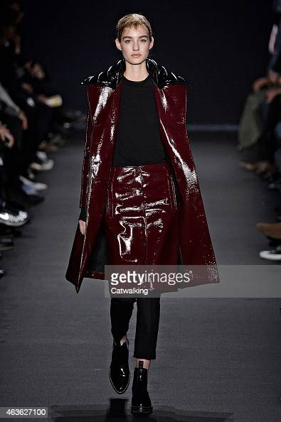 A model walks the runway at the Rag Bone Autumn Winter 2015 fashion show during New York Fashion Week on February 16 2015 in New York United States