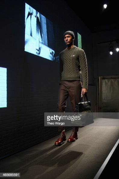 A model walks the runway at the Rag Bone Men's FW 2014 show on January 28 2014 in New York City