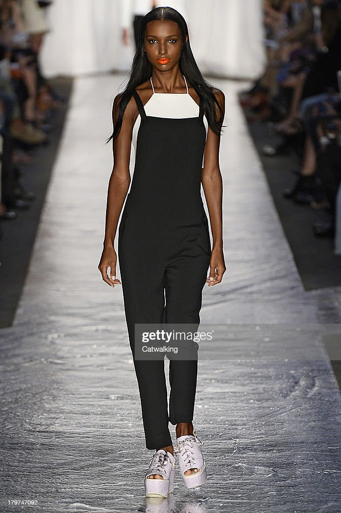 A model walks the runway at the Rag Bone Spring Summer 2014 fashion show during New York Fashion Week on September 6 2013 in New York United States