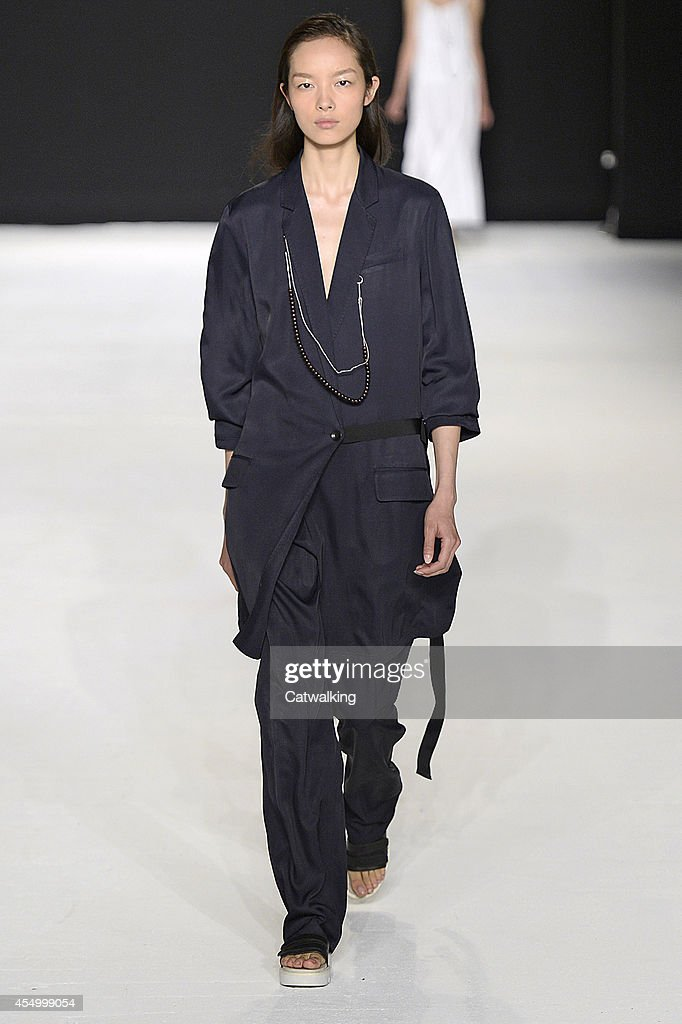 A model walks the runway at the Rag Bone Spring Summer 2015 fashion show during New York Fashion Week on September 8 2014 in New York United States