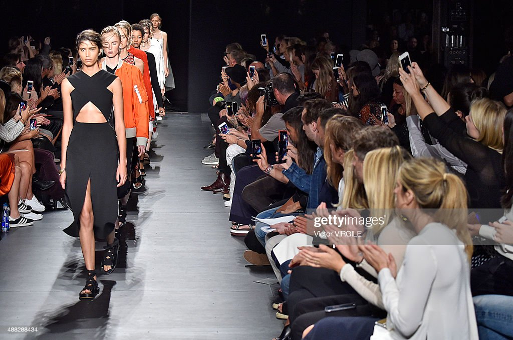 A model walks the runway at the rag bone Spring Summer 2016 fashion show during the New York Fashion Week on September 14 2015 in New York City