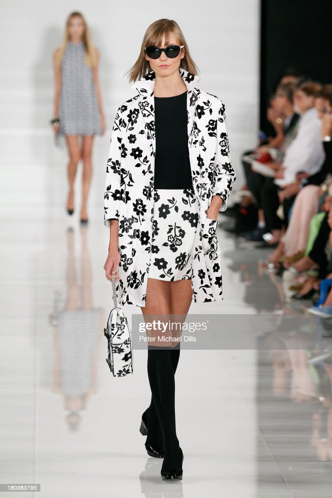 A model walks the runway at the Ralph Lauren fashion show during Mercedes-Benz Fashion Week Spring 2014 at St. John Center Studios on September 12, 2013 in New York City.