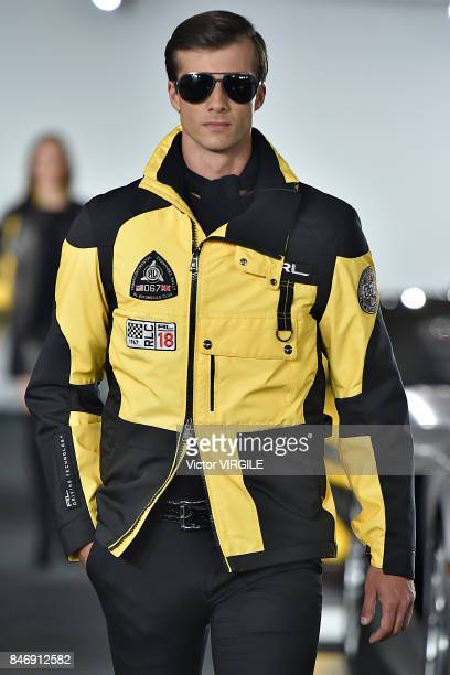 A model walks the runway at the Ralph Lauren Ready to Wear Spring/Summer 2018 fashion show during New York Fashion Week on September 12 2017 in New...