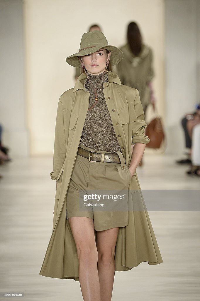 A model walks the runway at the Ralph Lauren Spring Summer 2015 fashion show during New York Fashion Week on September 11 2014 in New York United...