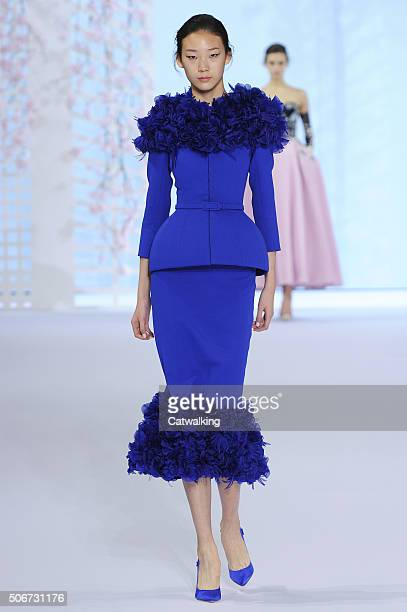 A model walks the runway at the Ralph Russo Spring Summer 2016 fashion show during Paris Haute Couture Fashion Week on January 25 2016 in Paris France