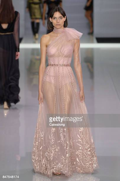 A model walks the runway at the Ralph Russo Spring Summer 2018 fashion show during London Fashion Week on September 15 2017 in London United Kingdom