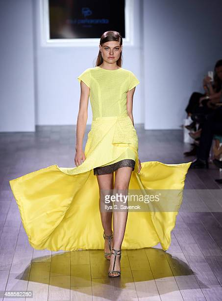 A model walks the runway at the Raul Penaranda fashion show during Style360 Spring 2016 at Metropolitan West on September 16 2015 in New York City