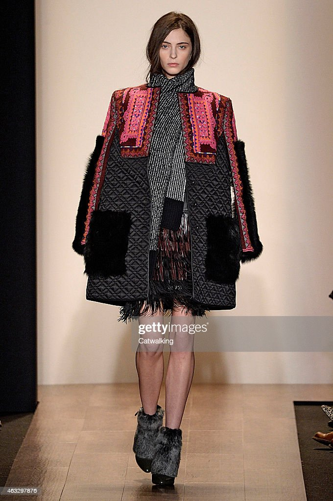 A model walks the runway at the Richard Chai Love Autumn WInter 2015 fashion show during New York Fashion Week on February 12 2015 in New York United...