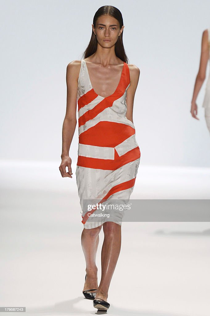 A model walks the runway at the Richard Chai Love Spring Summer 2014 fashion show during New York Fashion Week on September 5, 2013 in New York, United States.
