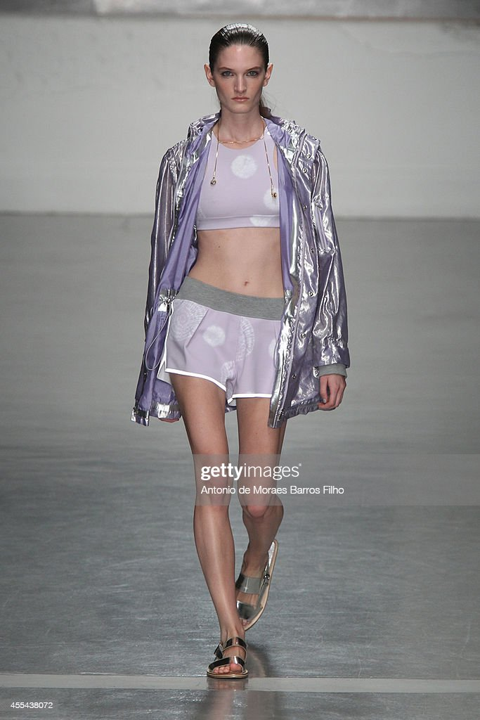 A model walks the runway at the Richard Nicoll show during London Fashion Week Spring Summer 2015 at on September 14 2014 in London England