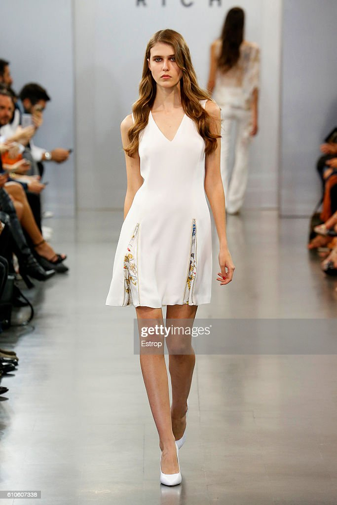 model-walks-the-runway-at-the-richmond-show-milan-fashion-week-2017-picture-id610607338