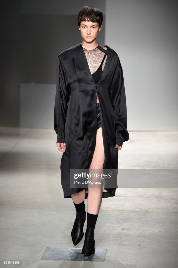 model-walks-the-runway-at-the-ricostru-show-during-milan-fashion-week-picture-id853049858
