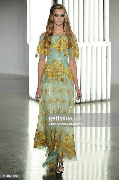 A model walks the runway at the Rodarte fashion show during New York Fashion Week on September 13 2011 in New York United States