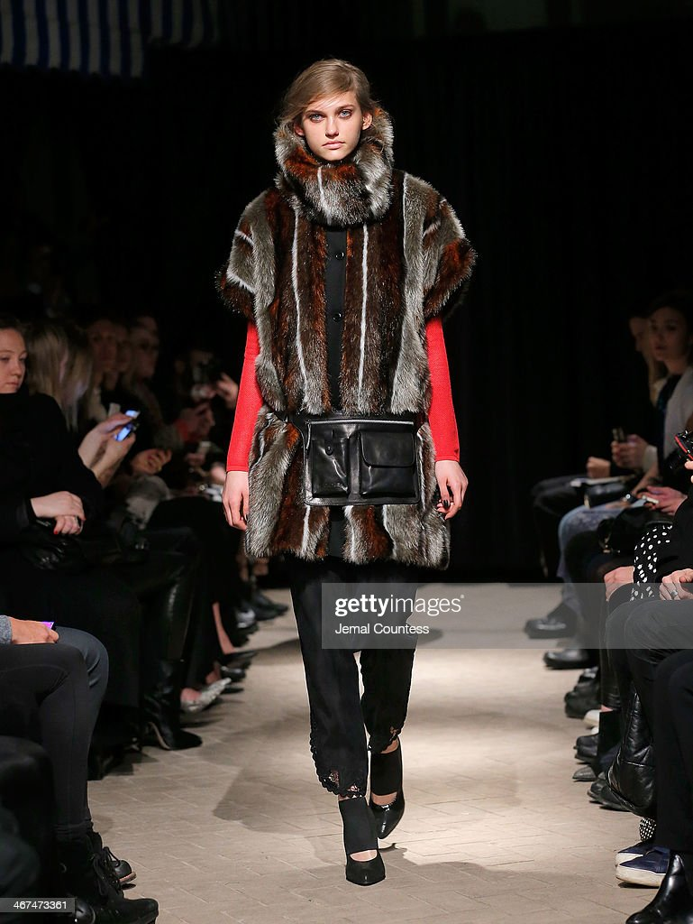 A model walks the runway at the Rodebjer fashion show during MercedesBenz Fashion Week Fall 2014 at Maritime Hotel on February 6 2014 in New York City