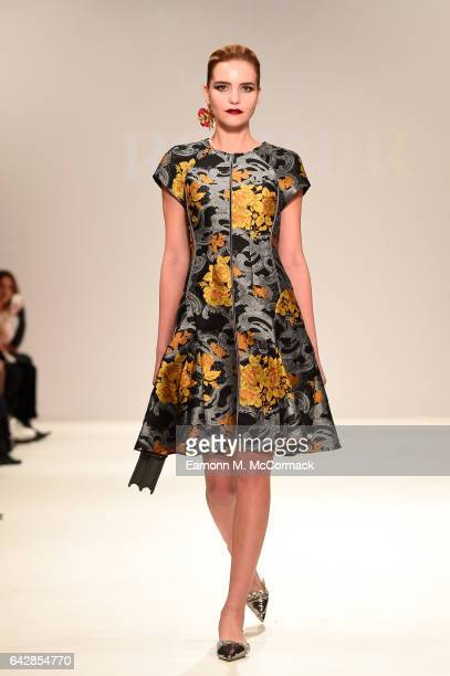 A model walks the runway at the Rohmir show during the London Fashion Week February 2017 collections on February 19 2017 in London England