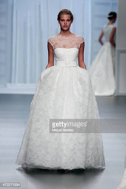 A model walks the runway at the Rosa Clara fashion show during 'Barcelona Bridal Week 2015' on May 5 2015 in Barcelona Spain