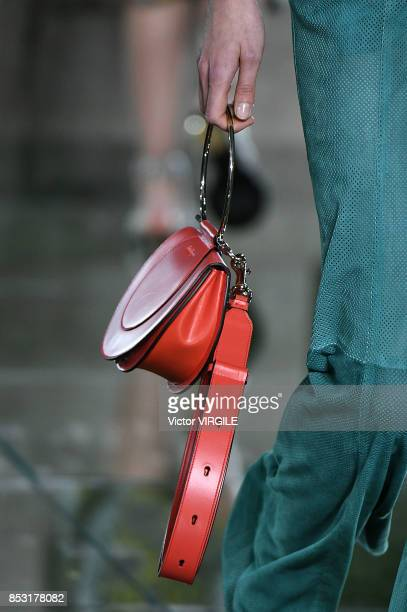 A model walks the runway at the Salvatore Ferragamo Ready to Wear Spring/Summer 2018 fashion show during Milan Fashion Week Spring/Summer 2018 on...
