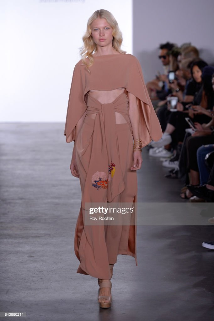 model-walks-the-runway-at-the-sechs-element-presentation-during-new-picture-id843886214