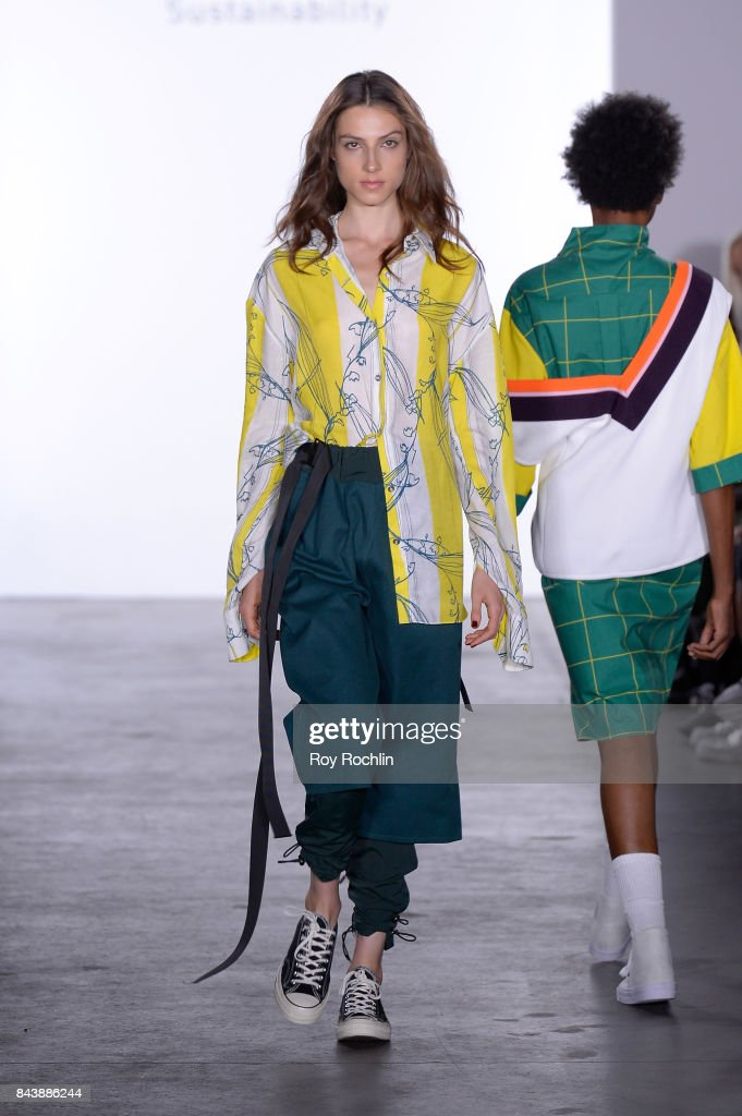 model-walks-the-runway-at-the-sechs-element-presentation-during-new-picture-id843886244