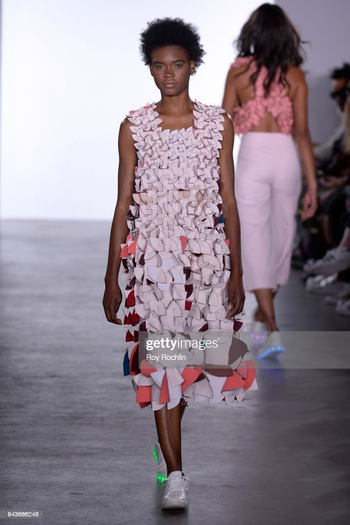 model-walks-the-runway-at-the-sechs-element-presentation-during-new-picture-id843886246