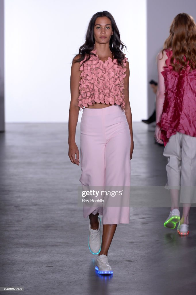 model-walks-the-runway-at-the-sechs-element-presentation-during-new-picture-id843887248