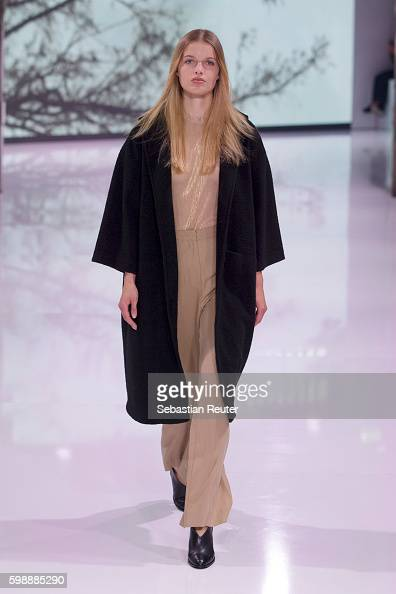 A model walks the runway at the Selected Femme/Homme fashion show during the Bread Butter by Zalando at arena Berlin on September 3 2016 in Berlin...