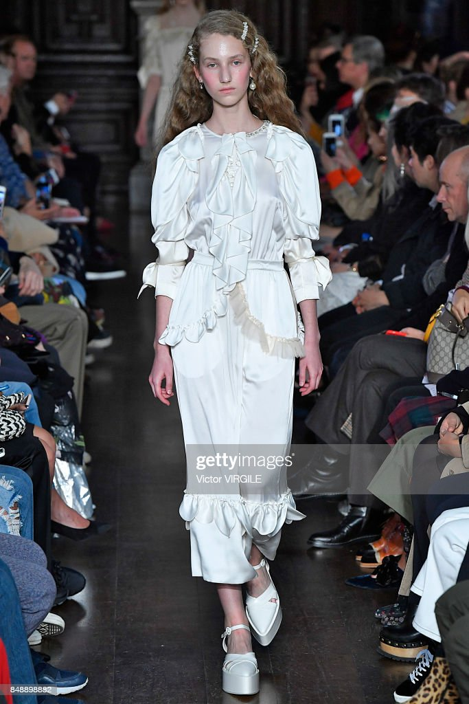 A model walks the runway at the Simone Rocha Ready to Wear Spring/Summer 2018 fashion show during London Fashion Week September 2017 on September 16, 2017 in London, England.