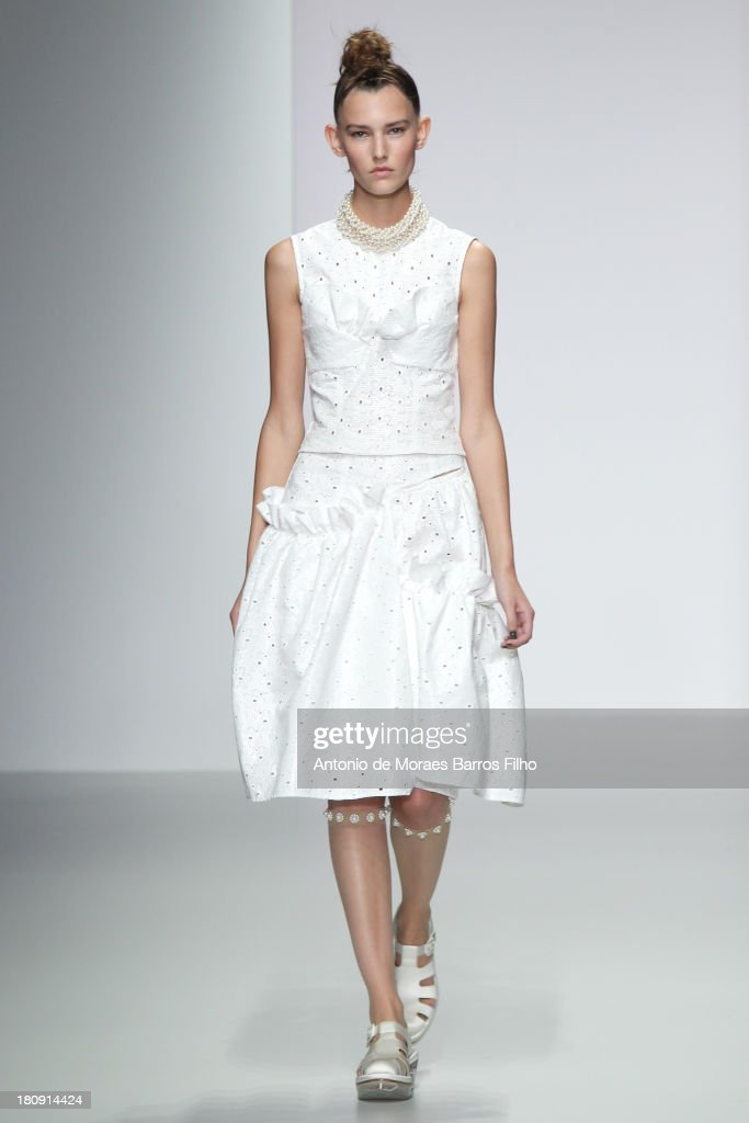 A model walks the runway at the Simone Rocha show during London Fashion Week SS14 on September 17, 2013 in London, England.