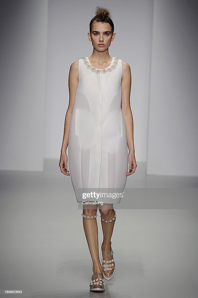 A model walks the runway at the Simone Rocha Spring Summer 2014 fashion show during London Fashion Week on September 17, 2013 in London, United Kingdom.