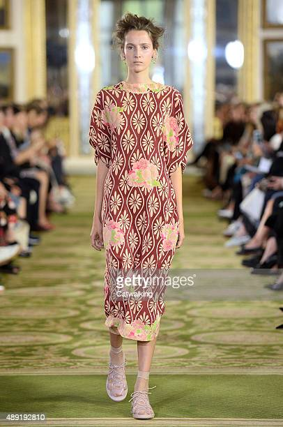 A model walks the runway at the Simone Rocha Spring Summer 2016 fashion show during London Fashion Week on September 19 2015 in London United Kingdom