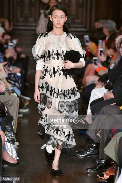 A model walks the runway at the Simone Rocha Spring Summer 2018 fashion show during London Fashion Week on September 16 2017 in London United Kingdom
