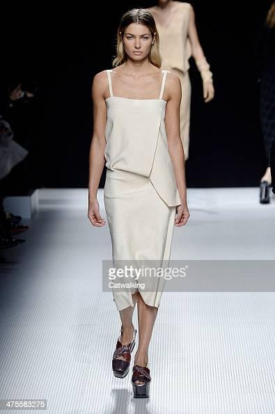 A model walks the runway at the Sonia Rykiel Autumn Winter 2014 fashion show during Paris Fashion Week on February 28 2014 in Paris France