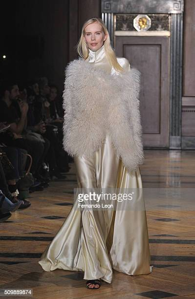 A model walks the runway at the Sophie Theallet fashion show during Fall 2016 New York Fashion Week on February 12 2016 in New York City