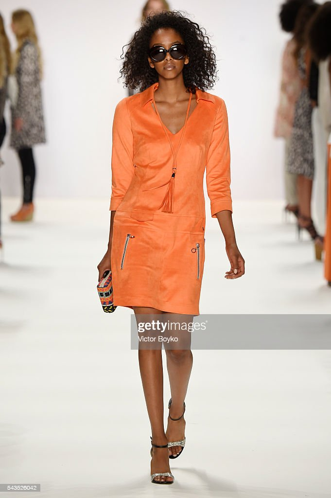 A model walks the runway at the Sportalm show during the Mercedes-Benz Fashion Week Berlin Spring/Summer 2017 at Erika Hess Eisstadion on June 29, 2016 in Berlin, Germany.