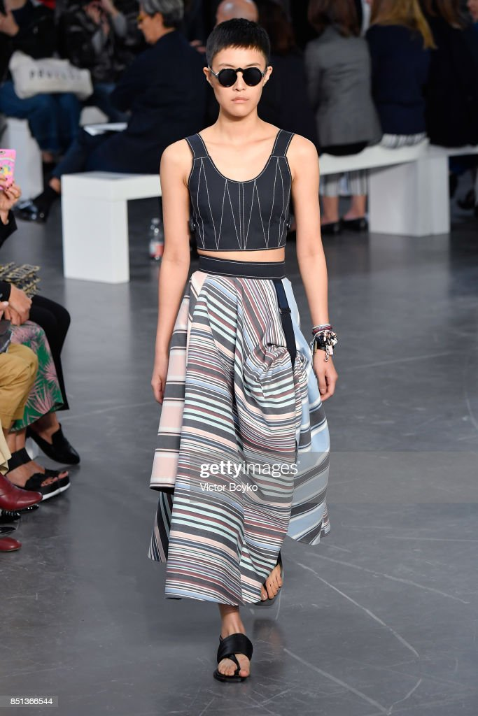 model-walks-the-runway-at-the-sportmax-show-during-milan-fashion-week-picture-id851366544