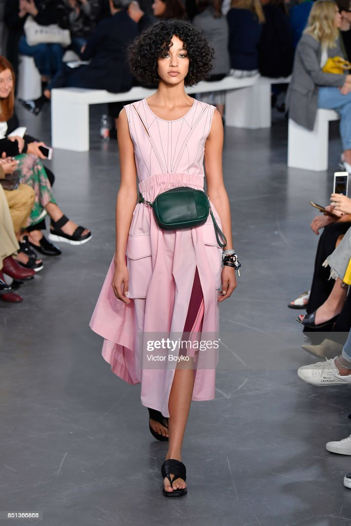 model-walks-the-runway-at-the-sportmax-show-during-milan-fashion-week-picture-id851366868