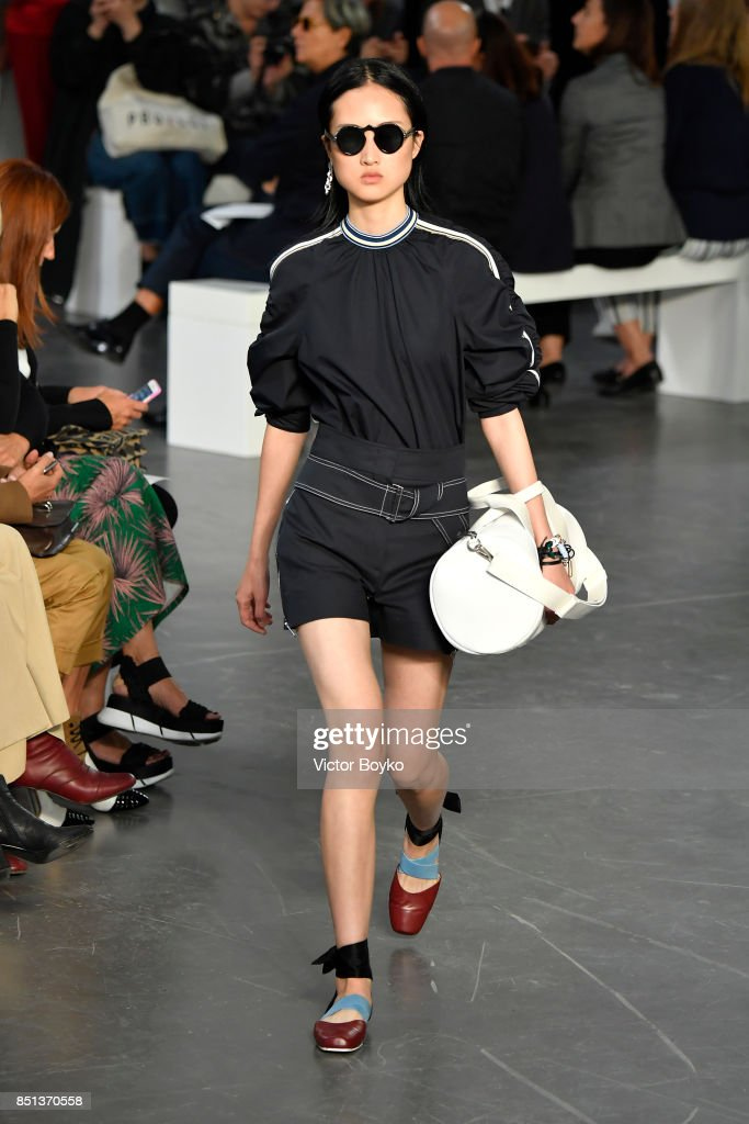 model-walks-the-runway-at-the-sportmax-show-during-milan-fashion-week-picture-id851370558