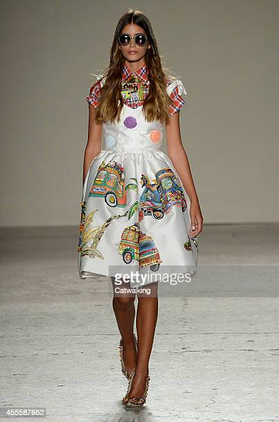 A model walks the runway at the Stella Jean Spring Summer 2015 fashion show during Milan Fashion Week on September 17 2014 in Milan Italy