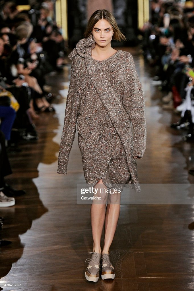 A model walks the runway at the Stella McCartney Autumn Winter 2014 fashion show during Paris Fashion Week on March 3 2014 in Paris France