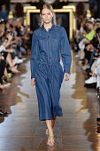 A model walks the runway at the Stella McCartney Spring Summer 2015 fashion show during Paris Fashion Week on September 29 2014 in Paris France