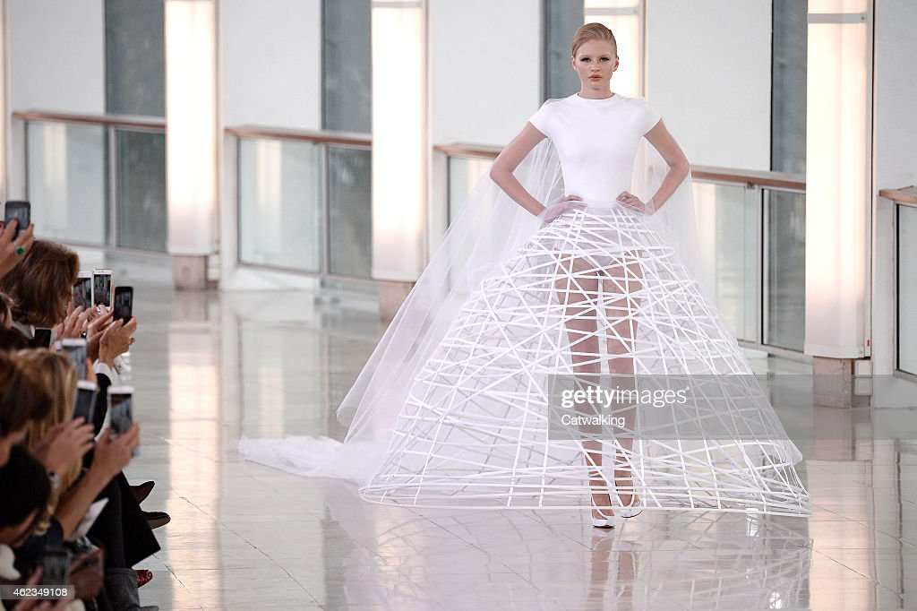 A model walks the runway at the Stephane Rolland Spring Summer 2015 fashion show during Paris Haute Couture Fashion Week on January 27 2015 in Paris...