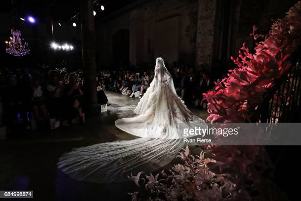 A model walks the runway at the Steven Kahlil show at the during MercedesBenz Fashion Week Resort 18 Collections at Carriageworks on May 15 2017 in...