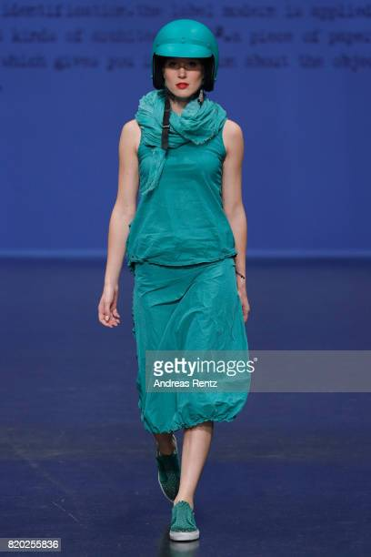 A model walks the runway at the Studio Rundholz show during Platform Fashion July 2017 at Areal Boehler on July 21 2017 in Duesseldorf Germany